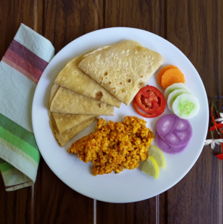 Moog Dal Fry with Chappatis