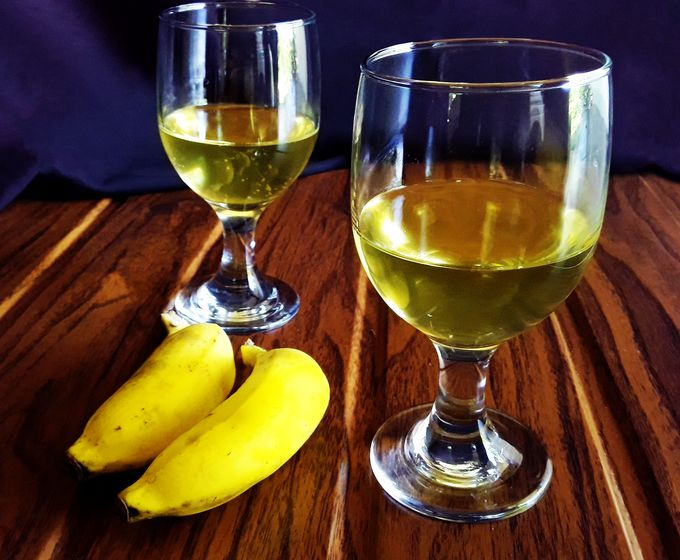 Banana Wine with Mysore Poovan bananas