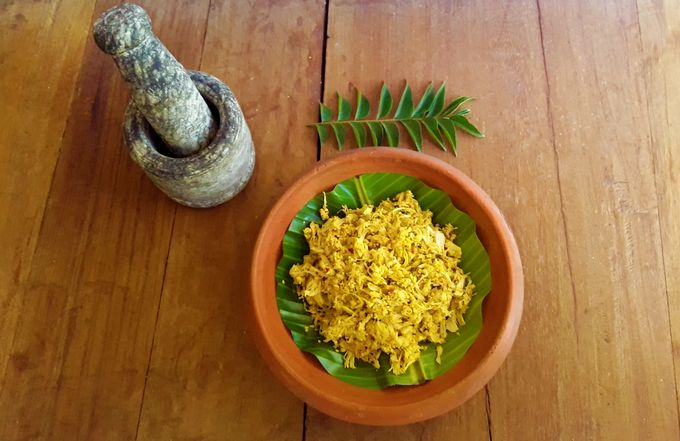 Kadgi Chakko - A delicious, traditional Konkani, hot and savory tender jackfruit side dish.
