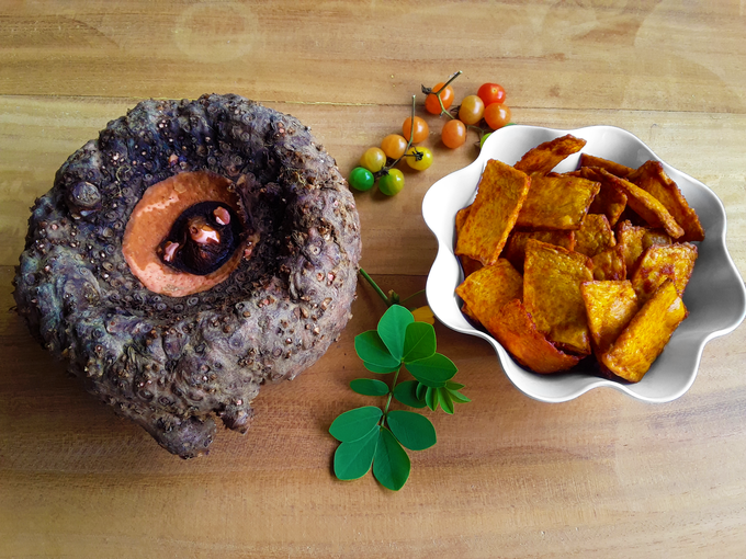Surna Kachri - Crispy deep-fried elephant foot yam chips