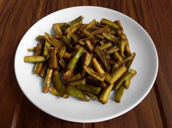 Brinjal, deep-fried
