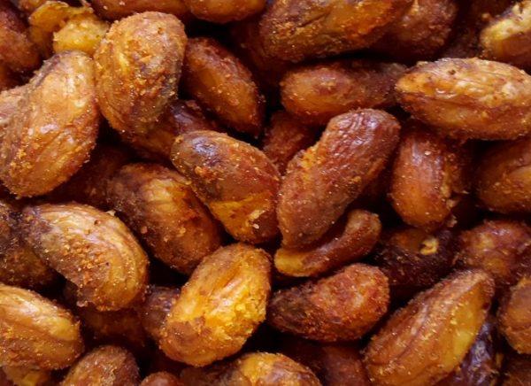 Crispy jackfruit beetles hot from the frying pan!